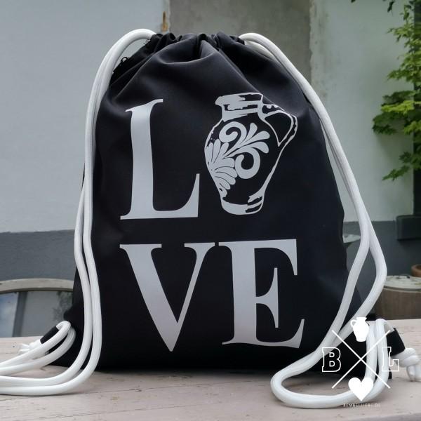 Turnbeutel LOVE Rucksack Tasche