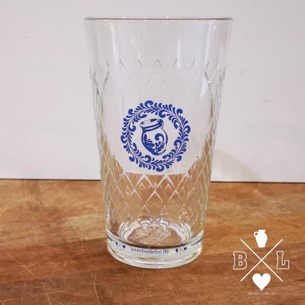 Apfelweinglas Gerippte Schoppe Fichtenkranz Bembel Glas