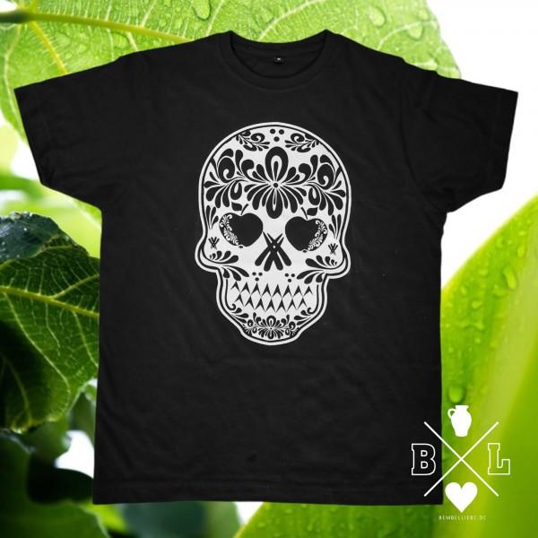 Bembel Skull Totenkopf Shirt schwarz weiss